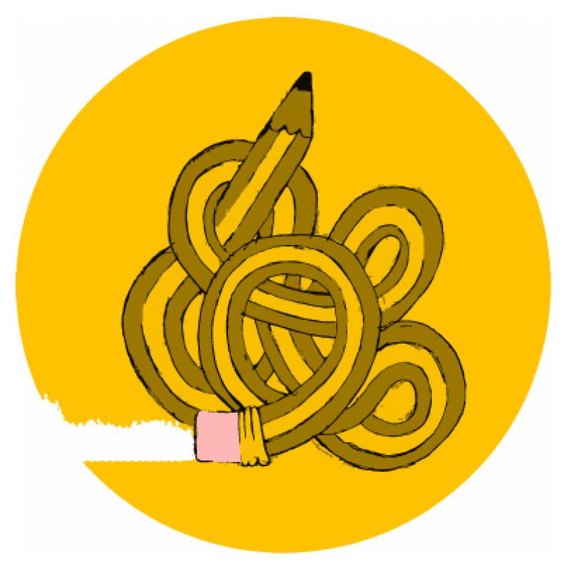 Social media for illustrating being tied up in knots