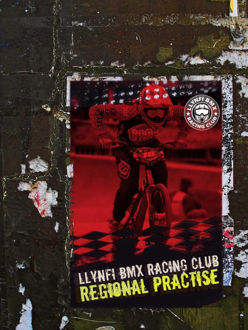 Graphic design advertising a local BMX competition