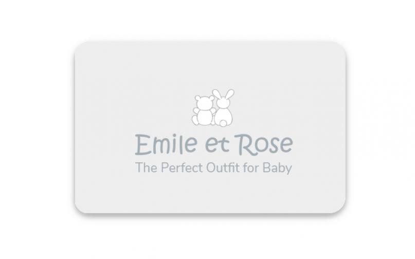 Graphic layout and design for a childrens and baby wear company's gift card